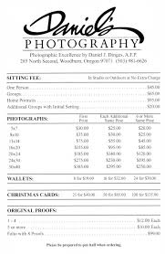 photographer prices daniel s photography prices families