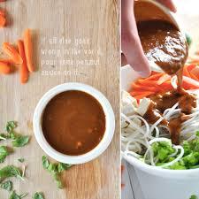 noodle bowl with ginger peanut dressing minimalist baker recipes