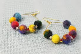 felt earrings felt earrings jun fiberworks