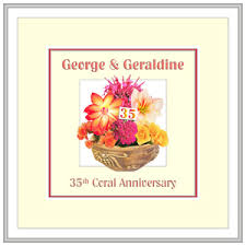 35 wedding anniversary coral 35th wedding anniversary presents cards gifts