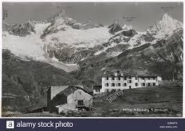 zermatt hotel riffelberg switzerland date 1930s stock photo