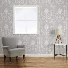 josette white dove grey damask wallpaper laura ashley