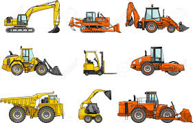 silhouette illustration of heavy equipment and machinery royalty
