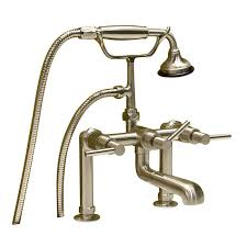 beautiful deckmount leg tub faucets