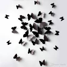 3d Pvc Magnet Butterfly Diy Wall Stickers Decals Home Decor Poster