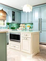 small tile backsplash in kitchen blue glass mosaic tile bright blue tile grey green green tile