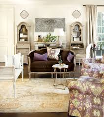 Suzanne Kasler Secretary Desk With Hutch In Living Room Traditional With Suzanne