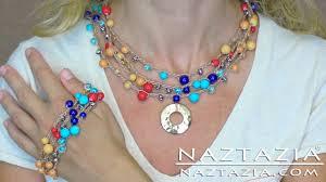 crochet beads necklace pattern images Diy learn how to crochet with beads make bead necklace bracelet jpg