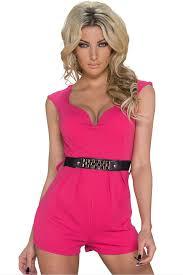 pink jumpsuit womens combinaison bodysuit womens disco pink summer