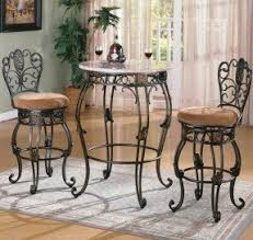 Marble Top Bar Table Pub Tables And Chair Sets Foter