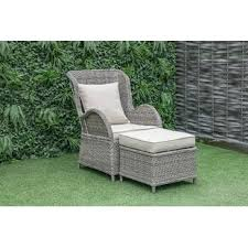 outdoor chair with ottoman wayfair