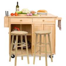 the vinton portable kitchen island with optional stools kitchen