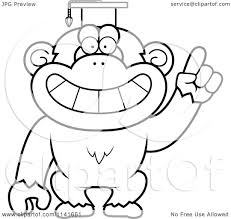 mailman coloring pages cartoon clipart of a black and white chimpanzee professor wearing