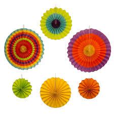 paper fans decorations ifavor123 new paper fan decorations 6 assorted fans 5