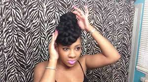 braided pin up hairstyle for black women 3 quick updos using braiding hair youtube