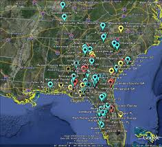 Florida Alabama Map by The Latest Worldwide Meteor Meteorite News 美国 隕石 Breaking