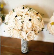 Wedding Flowers Keepsake Wedding Bouquet Vintage Collection Large Ivory Lace Black
