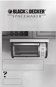 Black And Decker Spacemaker Toaster Oven Black U0026 Decker Toaster Tros1000 User Guide Manualsonline Com