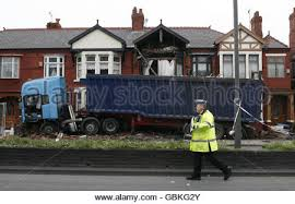 car crash in liverpool stock photo royalty free image 106875049