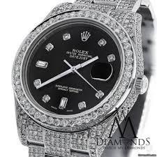 black diamond rolex diamond rolex datejust ii 116300 41mm stainless steel