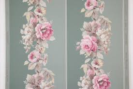 1950s vintage wallpaper pink roses on green rosie u0027s vintage