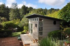 Backyard Guest Cottage The Sky U0027s The Limit With These Flat Packed Modern Sheds Fine