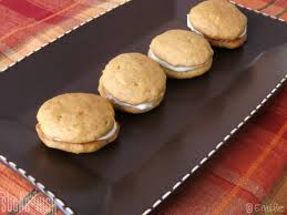 mini pumpkin whoopie pies with cheese filling oh my sugar