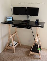 Diy Trestle Desk Diy Standing Desk Kit The Adjustable Hight Standing