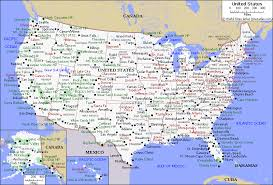 map of usa with major cities political map of usa with cities my