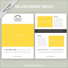 yellow real estate brochure vector free download
