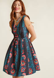 beautiful you fit and flare dress modcloth