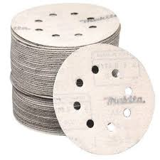 makita 5 in 400 grit hook and loop round abrasive disc 50 pack