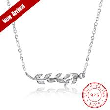 sted necklaces jemmin olive leaf design 925 sterling silver pendant diamond
