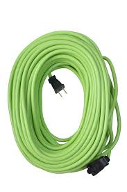Workchoice Outdoor Grounded Outlet With by Yard Master 9940010 Outdoor Garden Extension Cord Lime 120 Foot