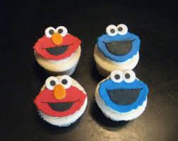 elmo cupcakes elmo cupcake toppers etsy