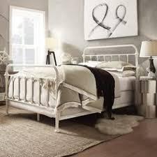 White Metal Kingsize Bed Frame Vintage Antiques Metal Beds Frames American Iron Bed