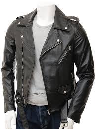 biker waistcoat mens black biker leather jacket shores men caine