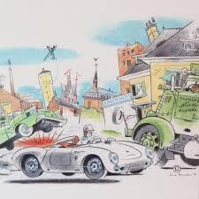 porsche cartoon drawing ever meulen u2013 porsche 550 spyder waft publishing