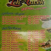 Teh Racek teh racek terusan dieng di surabaya menu daftar harga teh