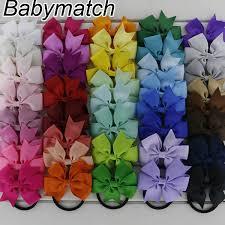 3 grosgrain ribbon babymatch 80pcs lot 3 grosgrain ribbon hair bows tie with pony