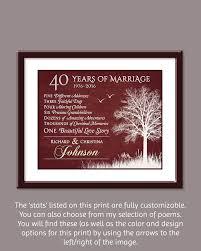 40th wedding anniversary gift ideas 40th wedding anniversary gifts finding wedding ideas