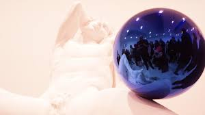 History Of Gazing Ball Jeff Koons Gazing Balls At Zwirner Gallery Nyc Youtube