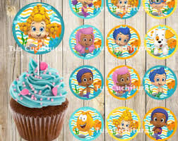 guppies cake toppers printable guppies cupcake toppers etsy