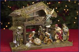 4 5 11pc resin nativity set with stable