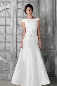 robe de mariage simple robes de mariée vintage simple taffetas épaules déées froncée