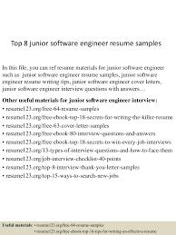 Software Engineer Resume Example Top8juniorsoftwareengineerresumesamples 150512071757 Lva1 App6891 Thumbnail 4 Jpg Cb U003d1431415432