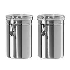 black kitchen canisters kitchen canisters black and silver amazon com