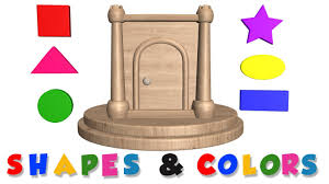 learn shapes and colors with wooden base for kids and toddlers a