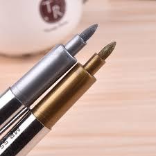 1 pcs paint pen metallic color pen technology gold and silver 1 5