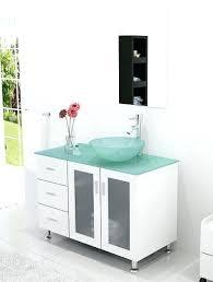 Sink Bowl On Top Of Vanity Glass Bowl Sink And Vanity Vessel Combo Inch Bathroom Tempered Top